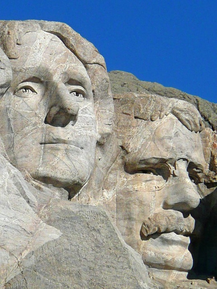 Thomas Jefferson's Face Carved Into Mount Rushmore