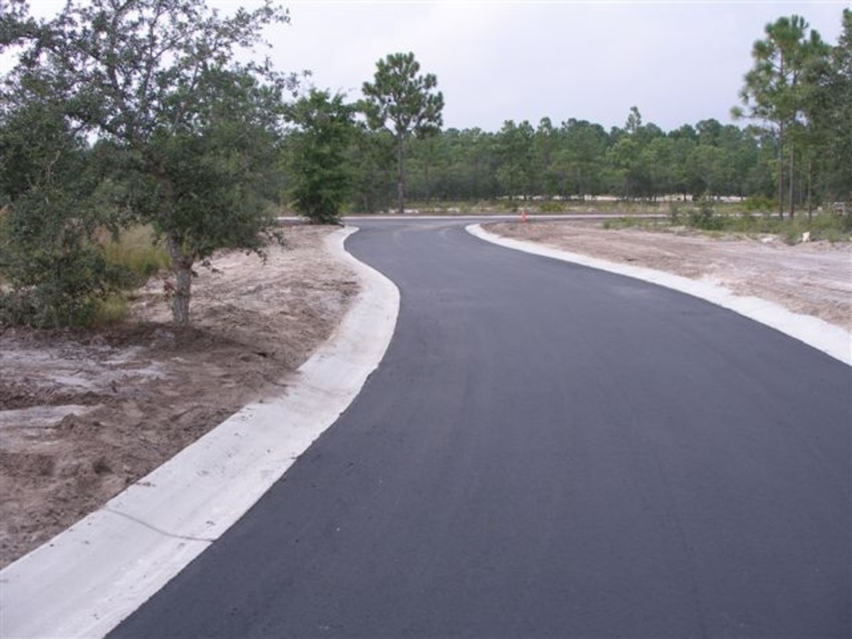 Smooth paved roadway with clear boundaries