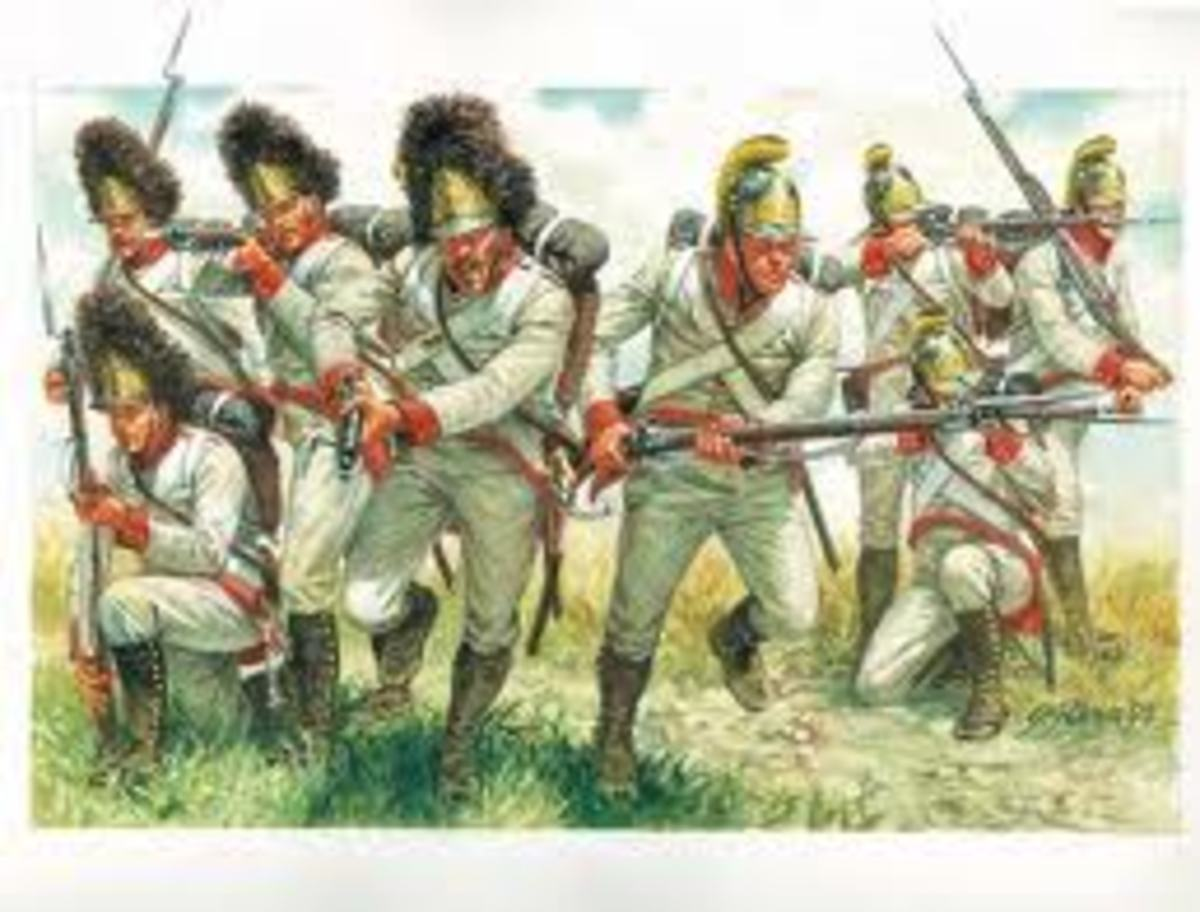 The White worn by the Austrian army was very similar to what the French army wore prior to the Revolution