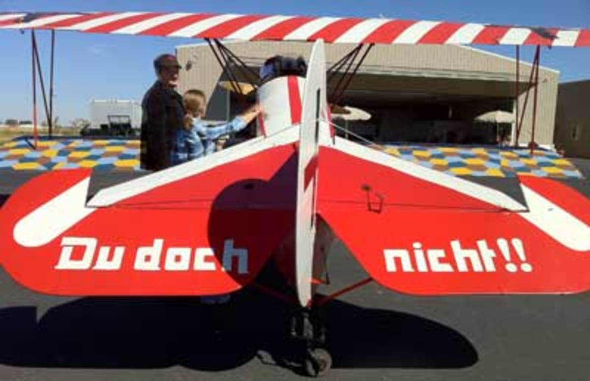 Replica Fokker D-7 built by Dr. James Parks and his son Andy, now the director of the Vintage Aero Flying Museum.