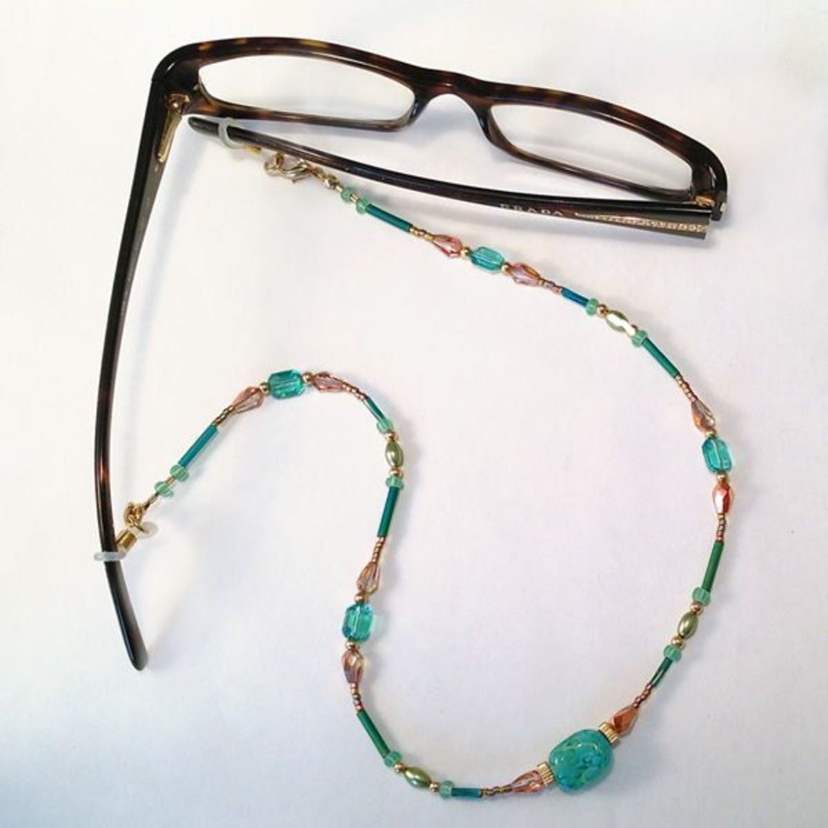 Convertible beaded eyeglass chain step-by-step jewelry making tutorial