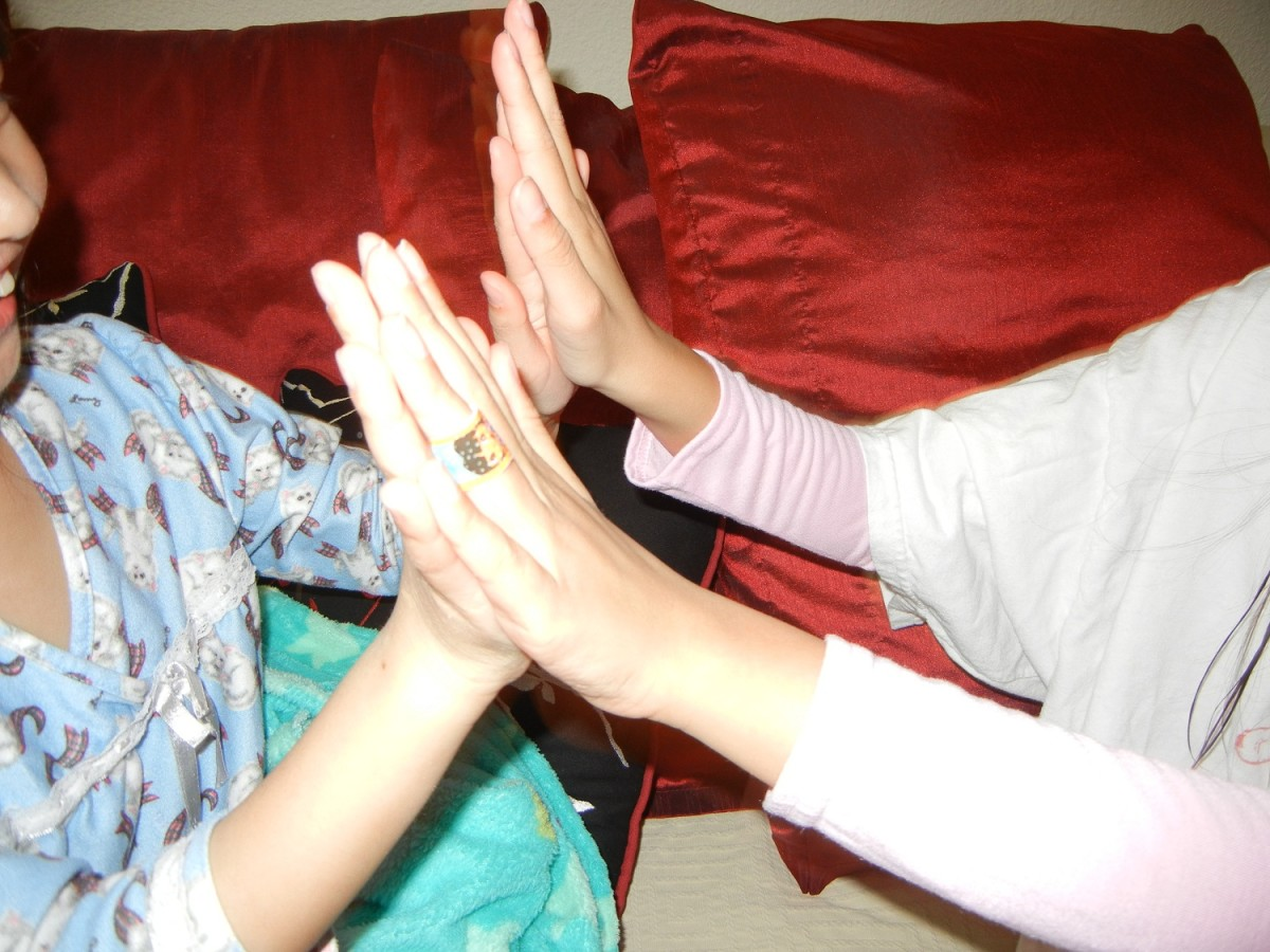 Kids Playing Hand Clapping Games