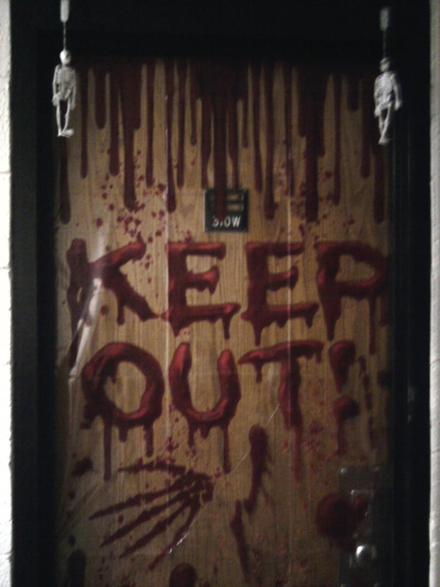 We decorated our door for Halloween!