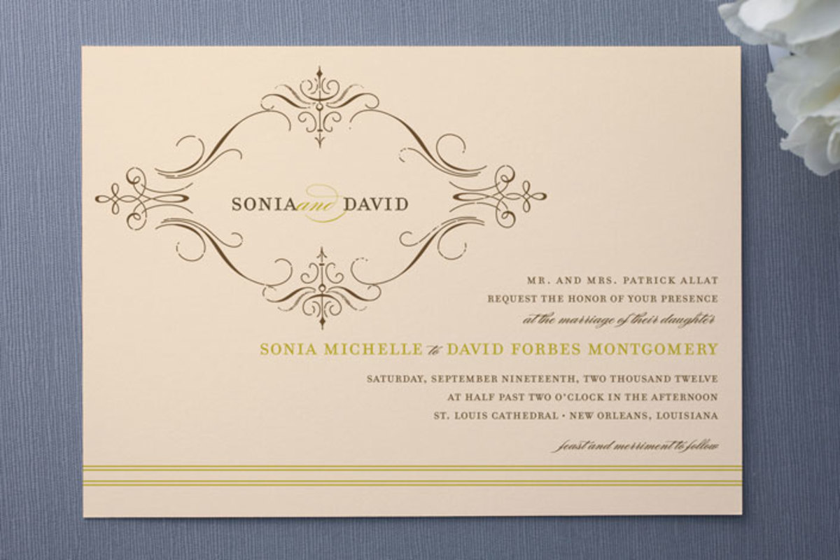 Vintage French Wedding Invitations by San Francisco native Anne Clark.