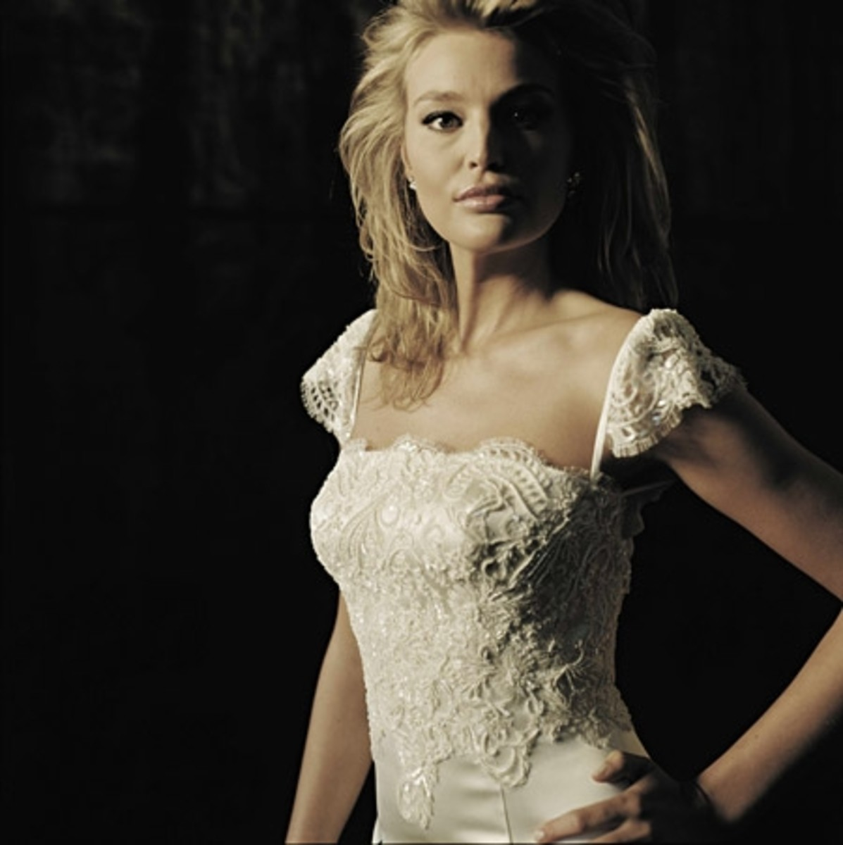 Bodice made up of French Guipure Lace by Lisa Gowing Couture Bridal