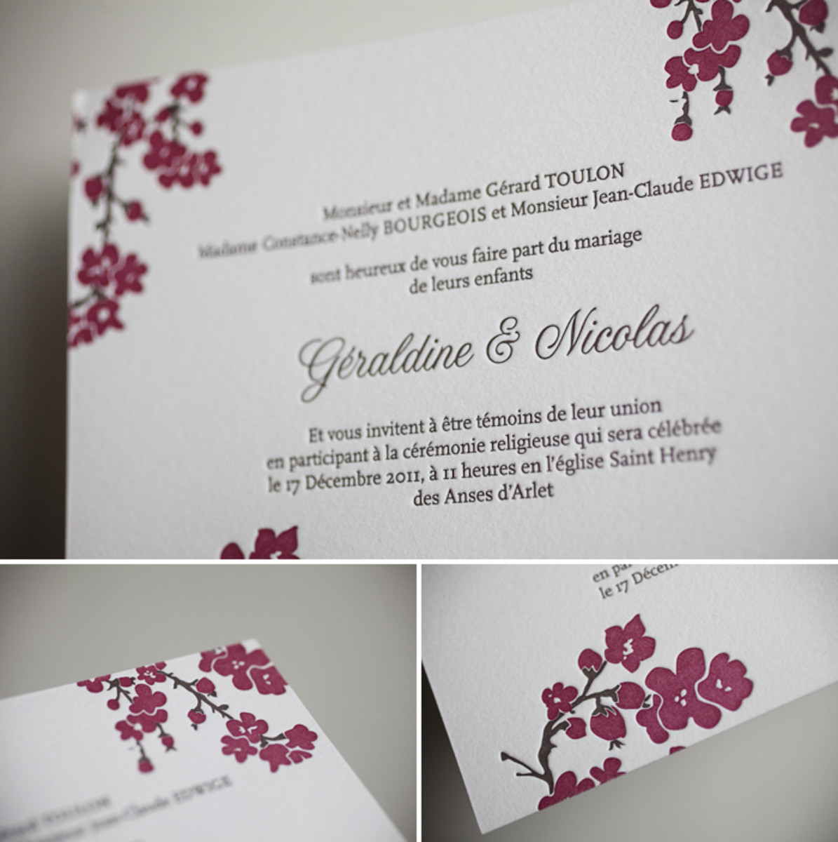 Amy Graham Stigler's Mimosa invitation design. For more info contact them by email at hello@bellafigura.com