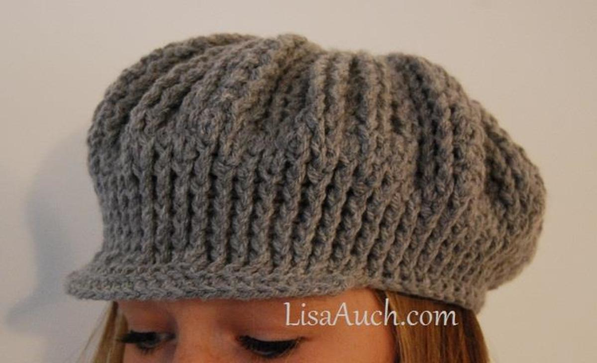 Adults peaked cap crochet pattern