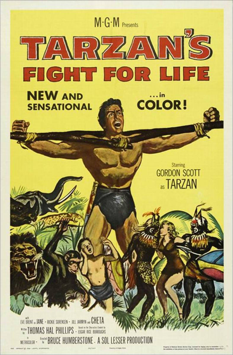 Tarzan's Fight for Life (1958) poster