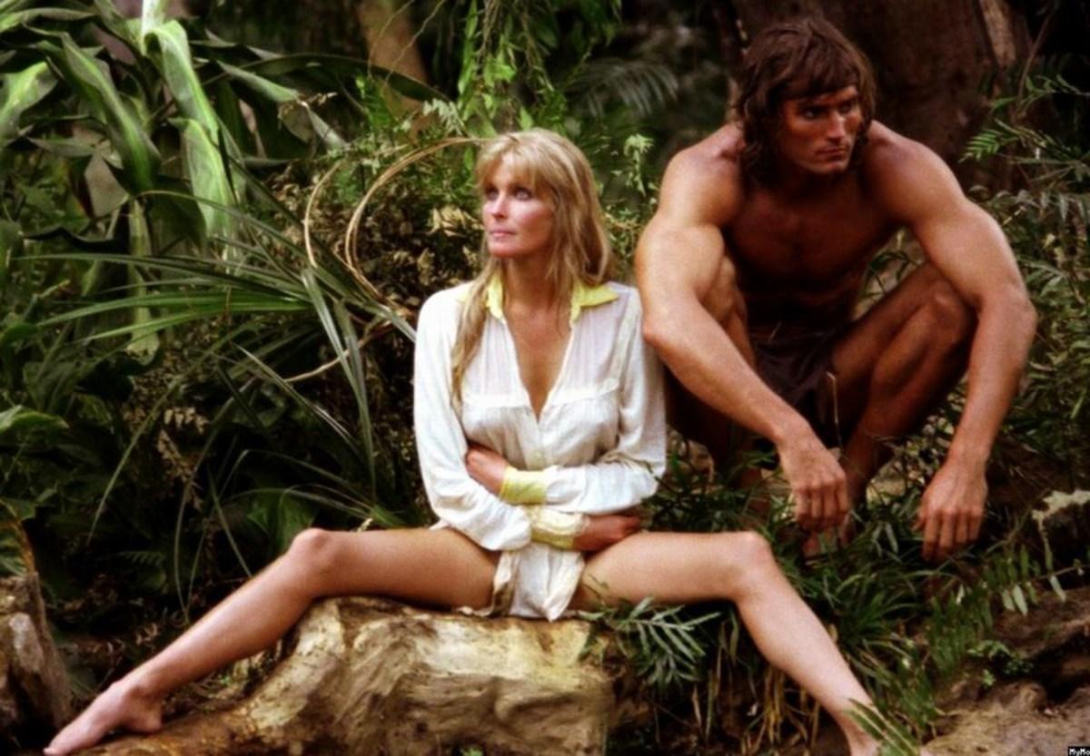 Bo Derek and Miles O'Keeffe in Tarzan the Ape Man (1981)