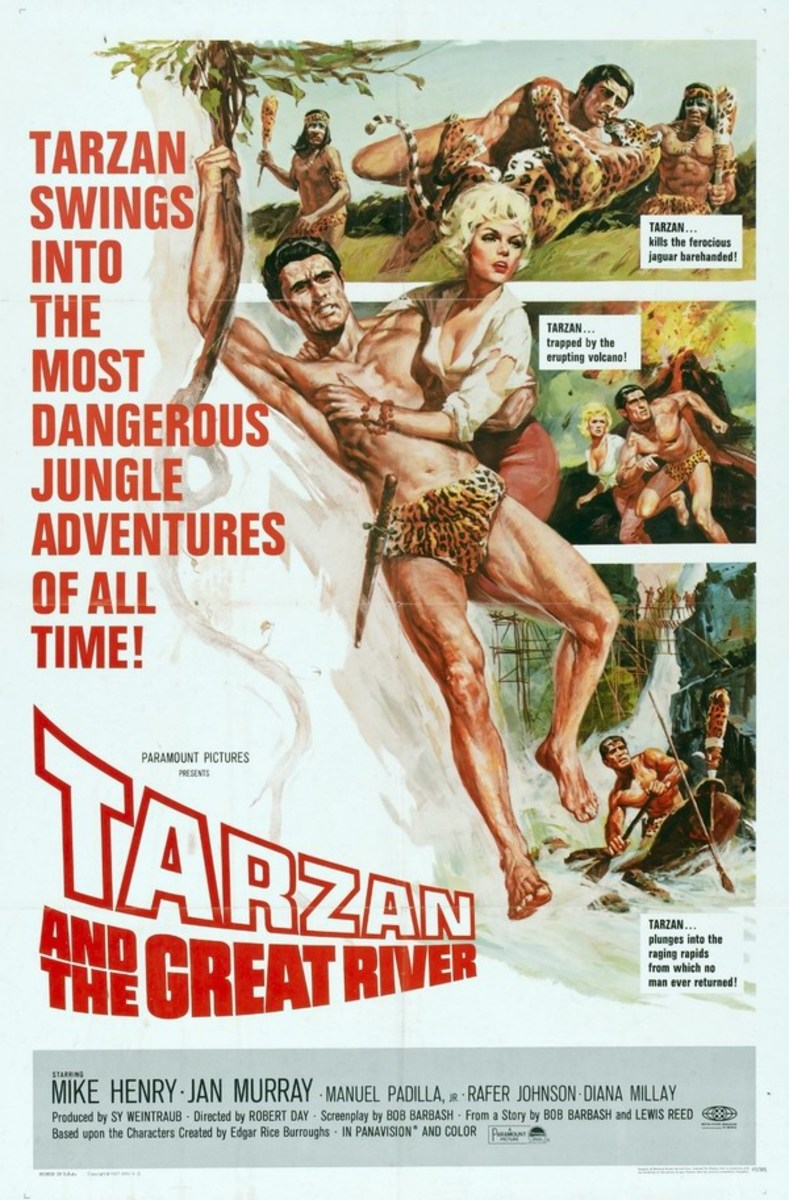 Tarzan and the Great River - poster