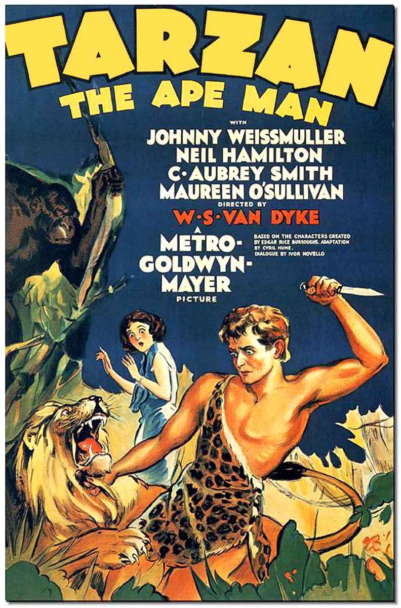 Tarzan the Ape Man 1932 poster