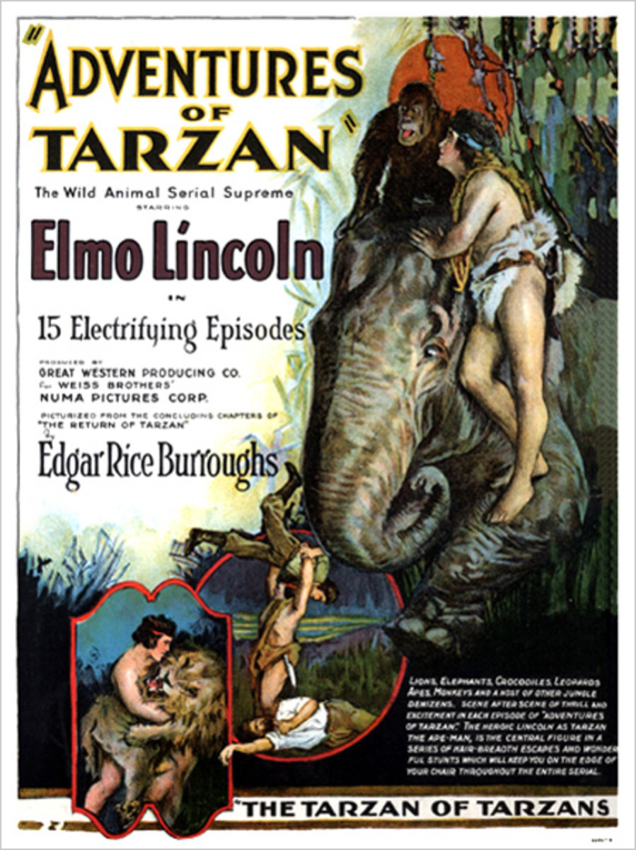 Adventures of Tarzan 1921 poster