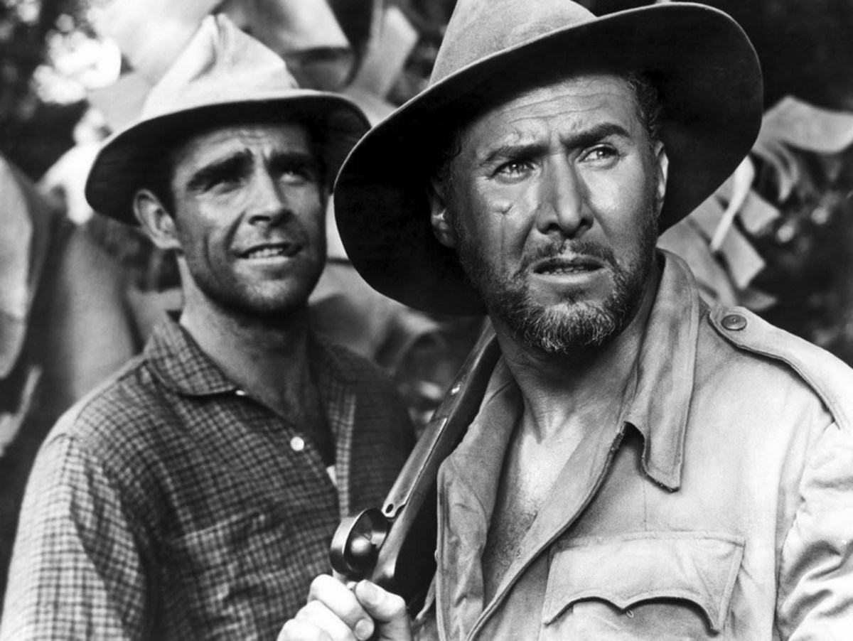 Sean Connery and Anthony Quayle in Tarzan's Greatest Adventure