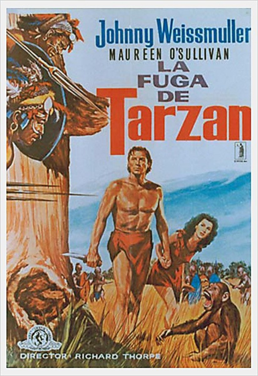 Tarzan escapes - poster