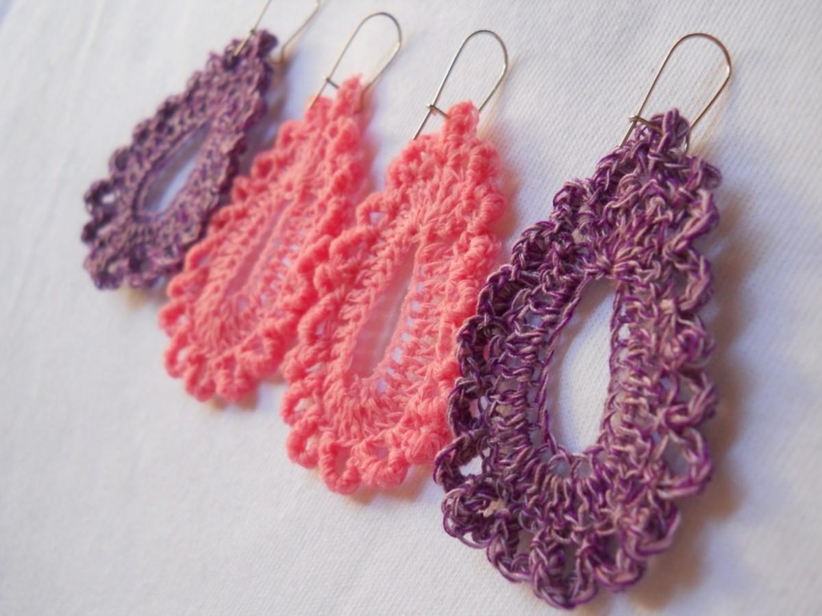 Crochet Teardrop Earring #5