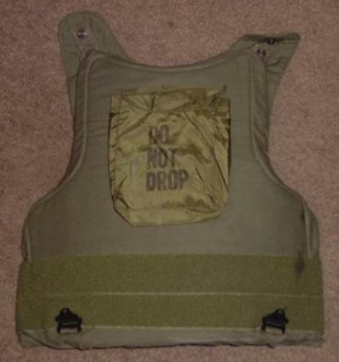 """Ceramic core personal armor known as """"chicken plate"""" deployed in Vietnam to US troops esp. helicopter pilot"""