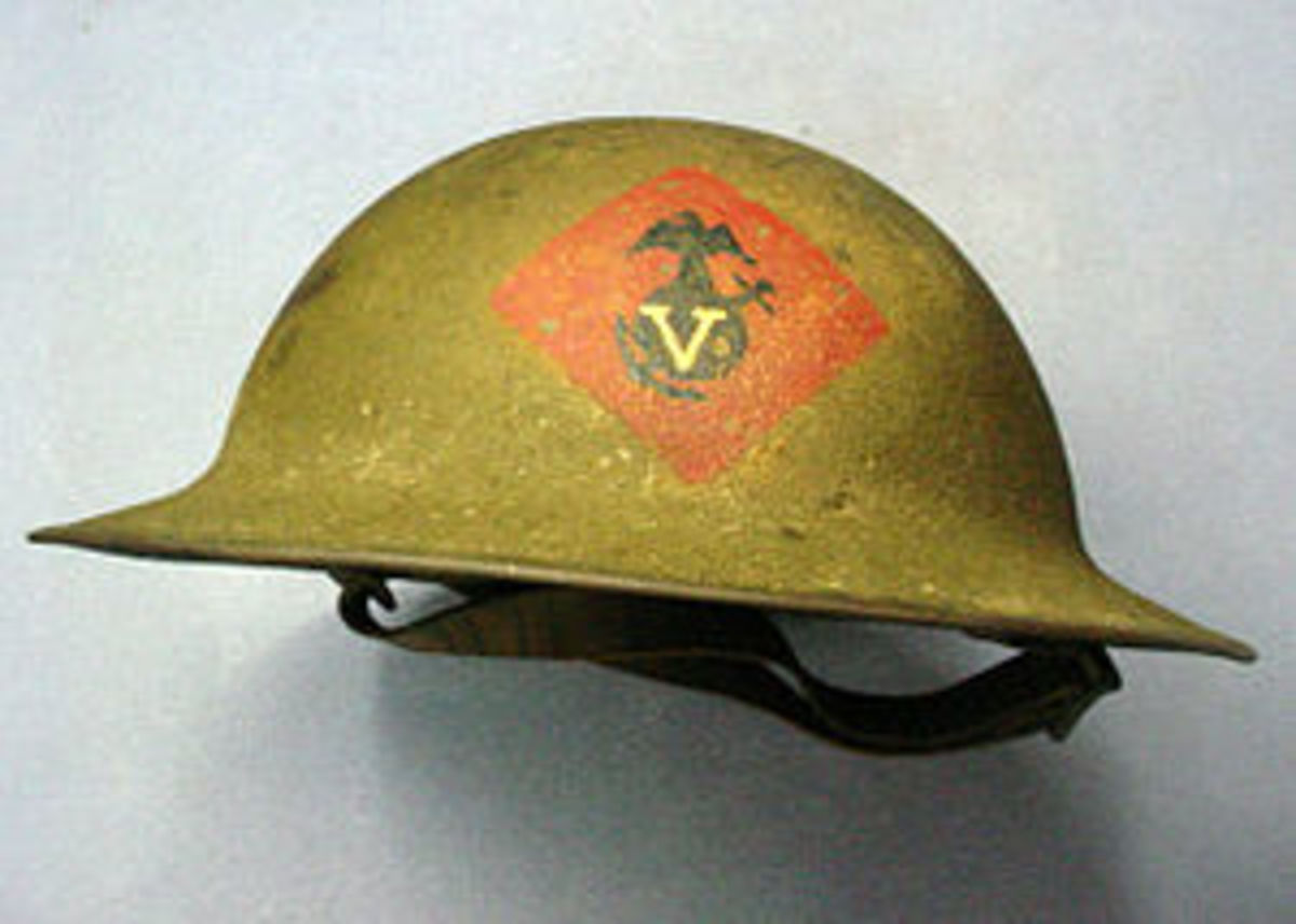 Brodie Helmet, British and later allied metal helmet, introduced in 1916, note the wide all around brim and simple structure