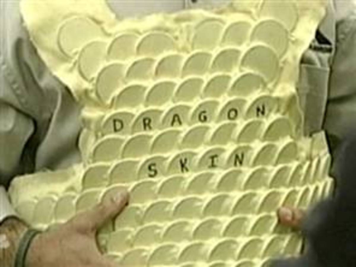 Dragon Skin, 17 pounds body armor that's flexible and not weigh too much, yet offers multi-strike protection against AK-47 rounds