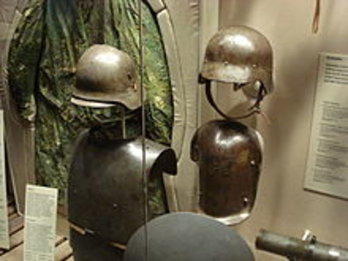 German Stahlhelm and anti-shrapnel body armor from WWI