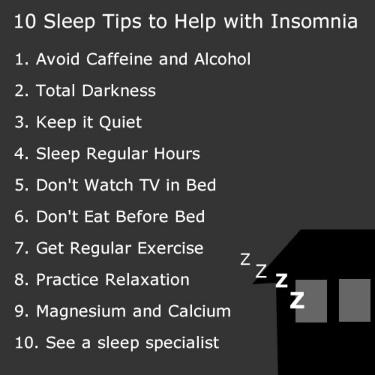 10 Sleep Tips to Help with Insomnia