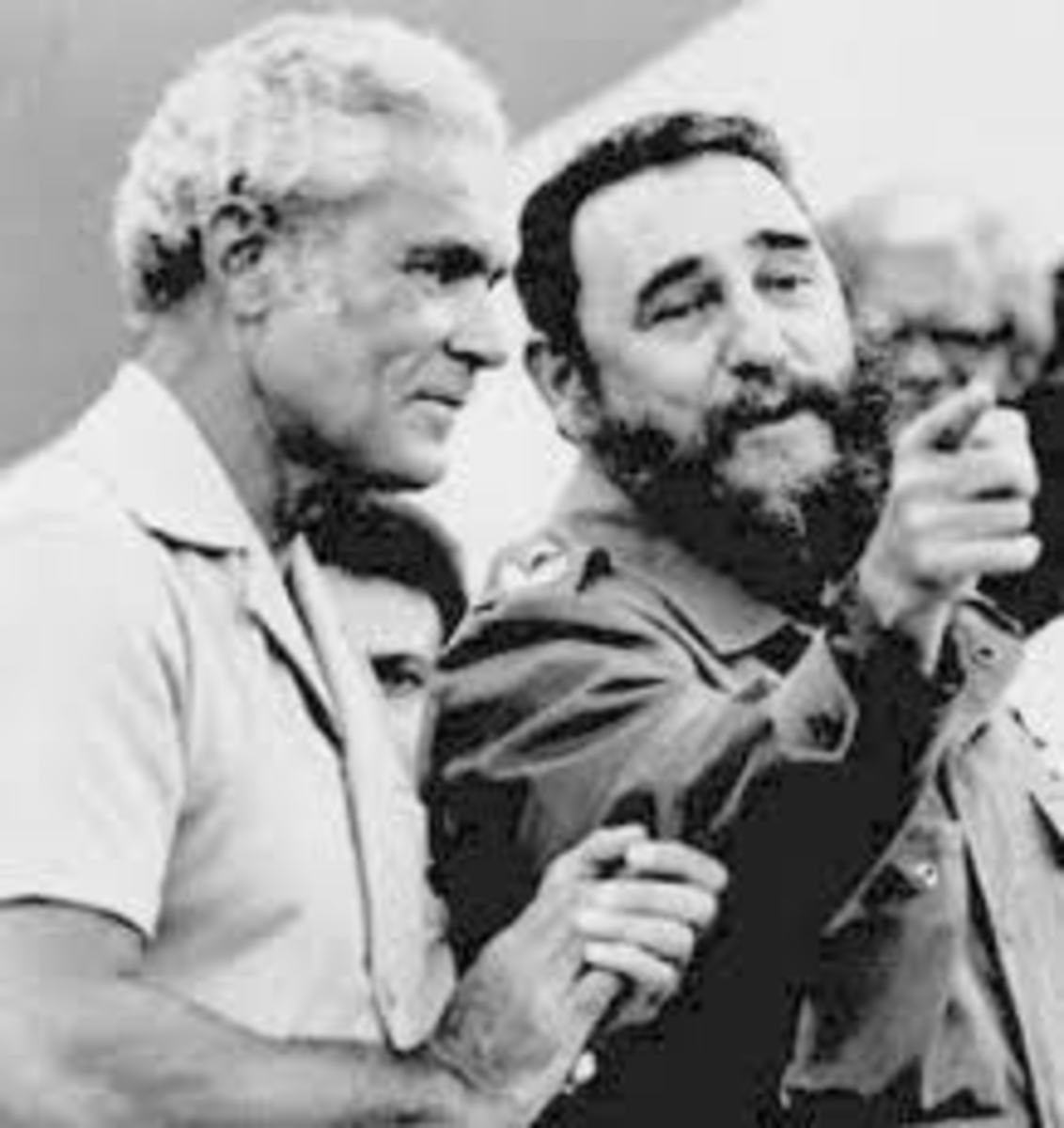 Michael Manley Hanging out with Fidel Castro