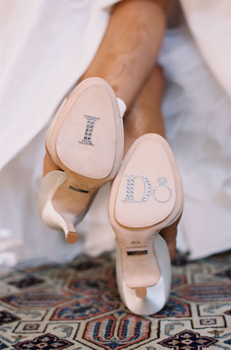 Ten Fun, Gorgeous, Funky, Cool Ways To Bling Out Your Wedding Shoes
