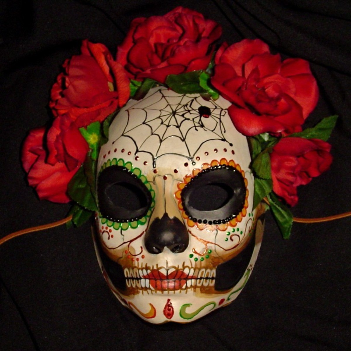 Decorative calaveras or skulls are the main prop of the dia del a muerte festivals, or the day of the dead.
