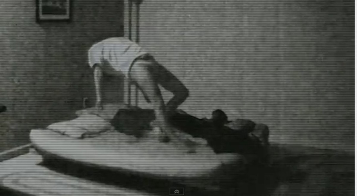 A possessed woman is levitated off of her bed while unconscious.