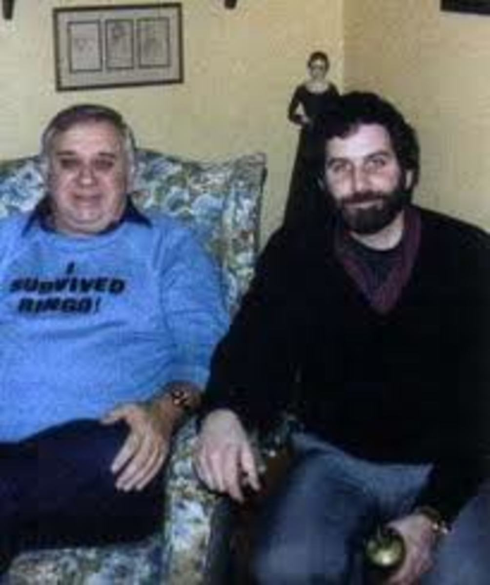 Tony Spera (right) and his Father in Law Ed. Warren (left).