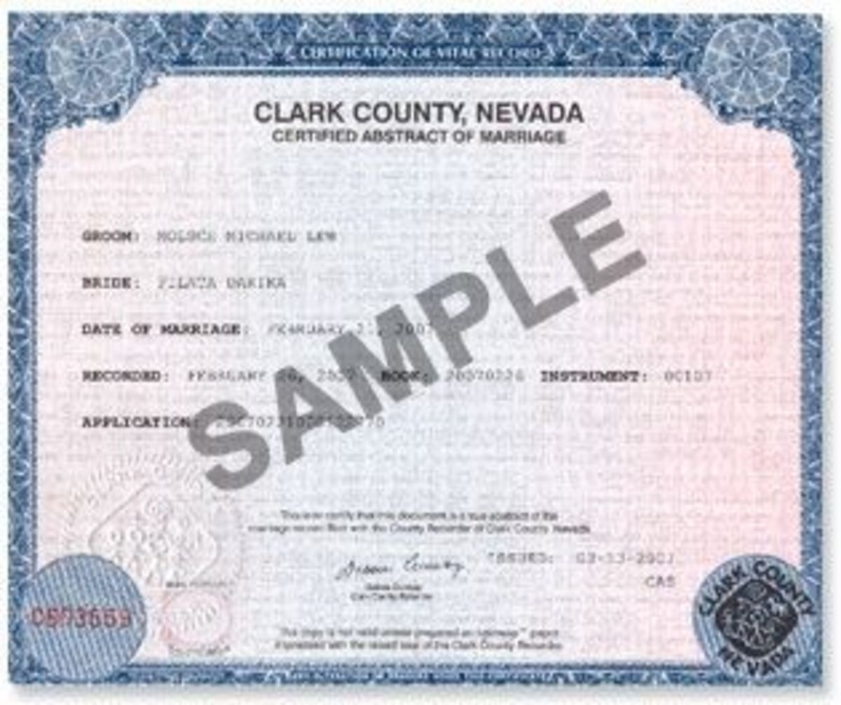 Nevada Marriage Records Search Directory