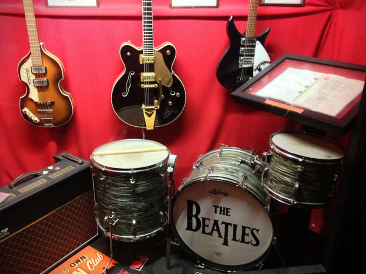 Beatles memorabilia at The Cavern Club, Liverpool.