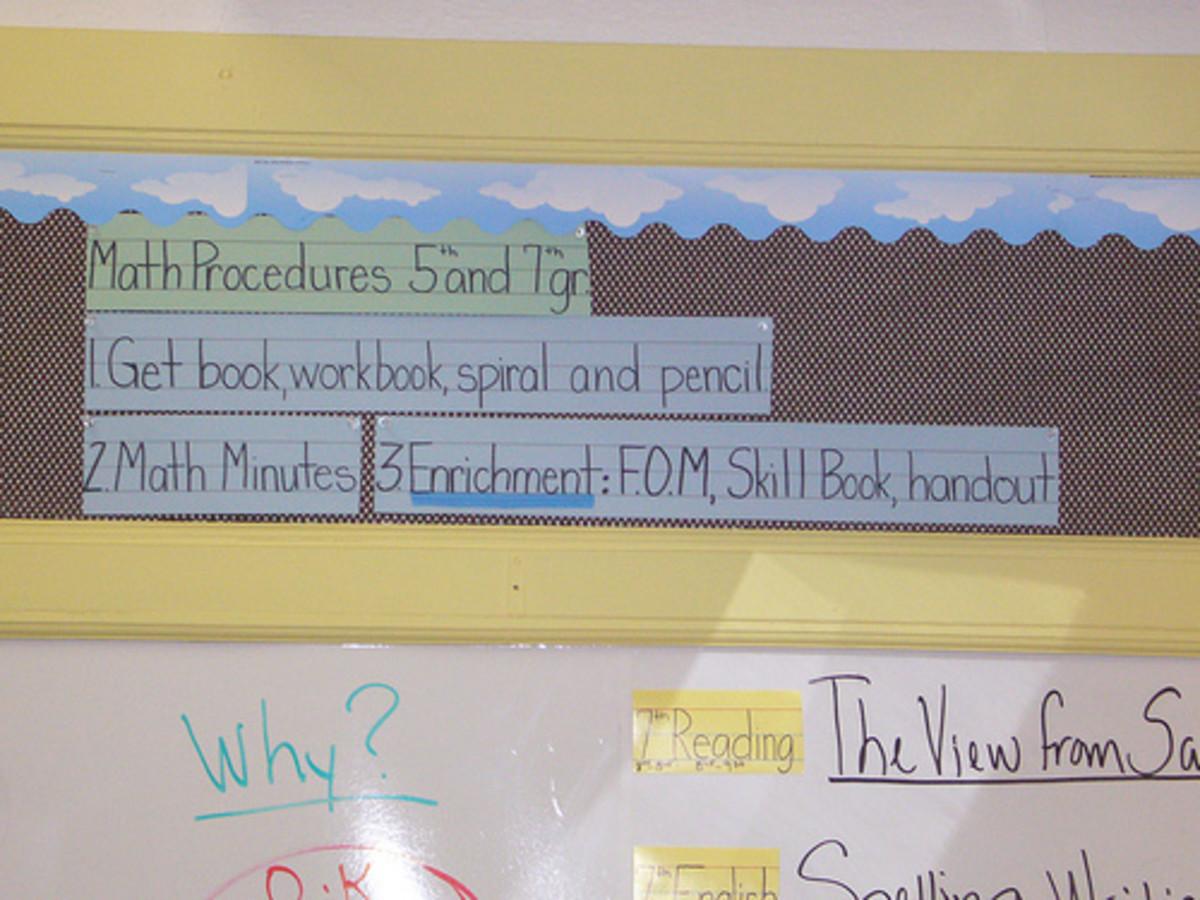 Starting the Class Period: Math Procedures