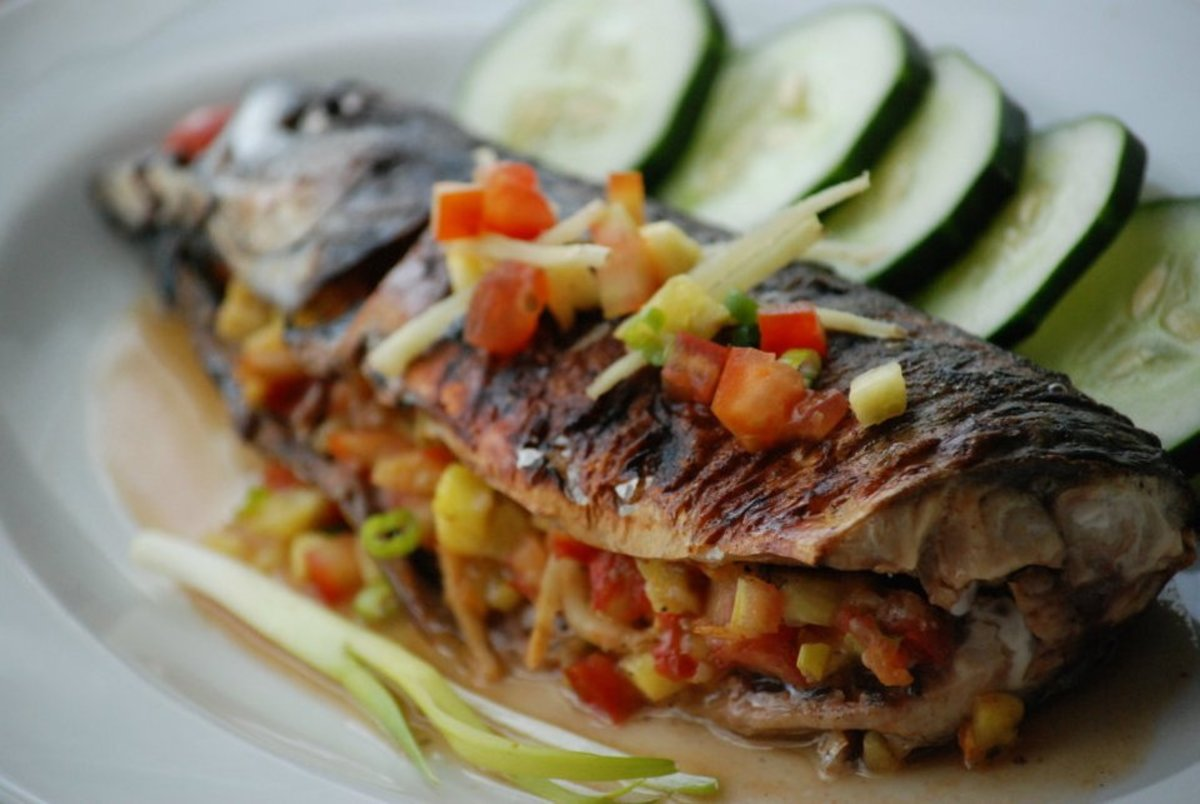 Grilled mackerel deliciously stuffed for Triple tail fish recipes