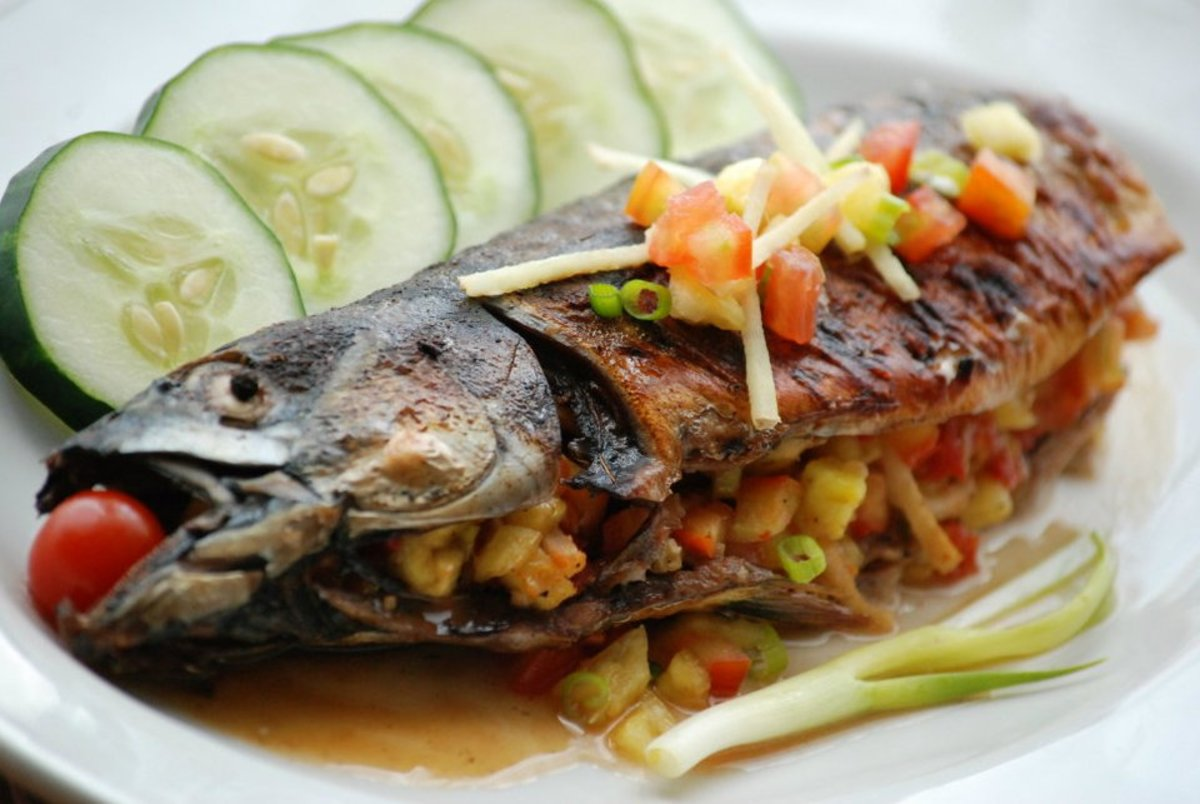 Holy Mackerel! Juicy and full of flavour.  I encourage eating with bare hands (kinamot or kamayan) with this dish. It  is a way to savour a good meal and nothing is wasted.
