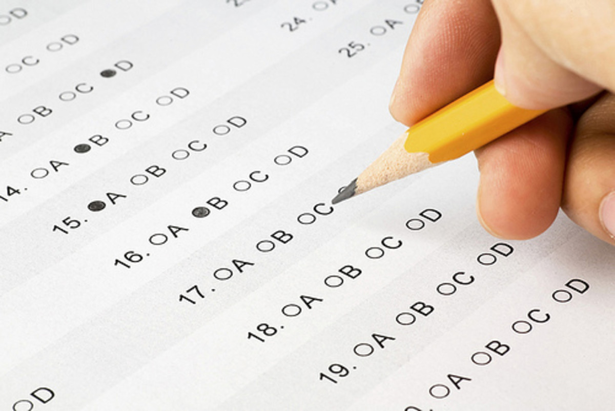 Taking a test