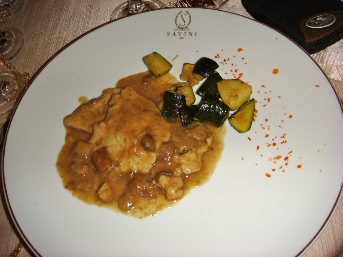 Italian Food - Veal Scaloppine, Veal Marsala and Chicken Piccata