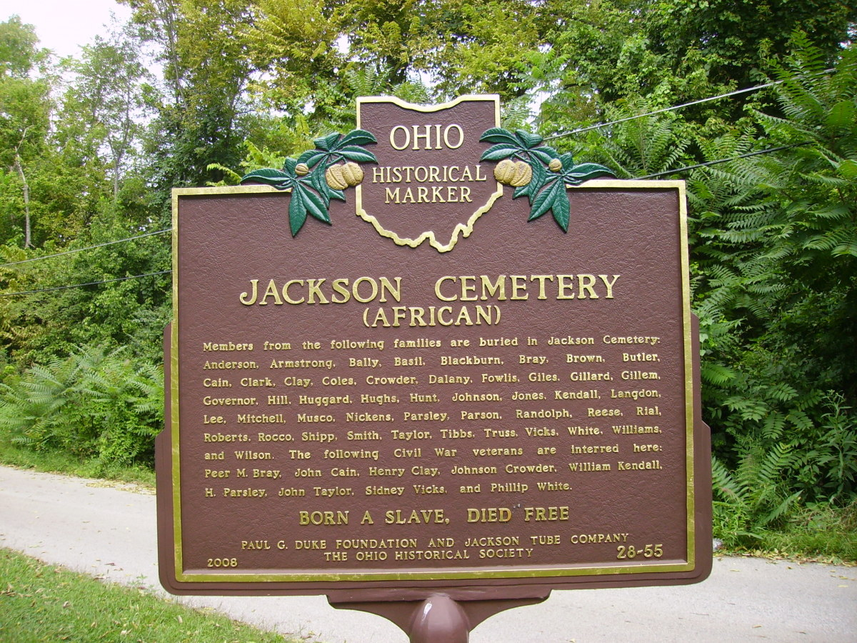 Ohio Historical Marker--Jackson Cemetery(On back)