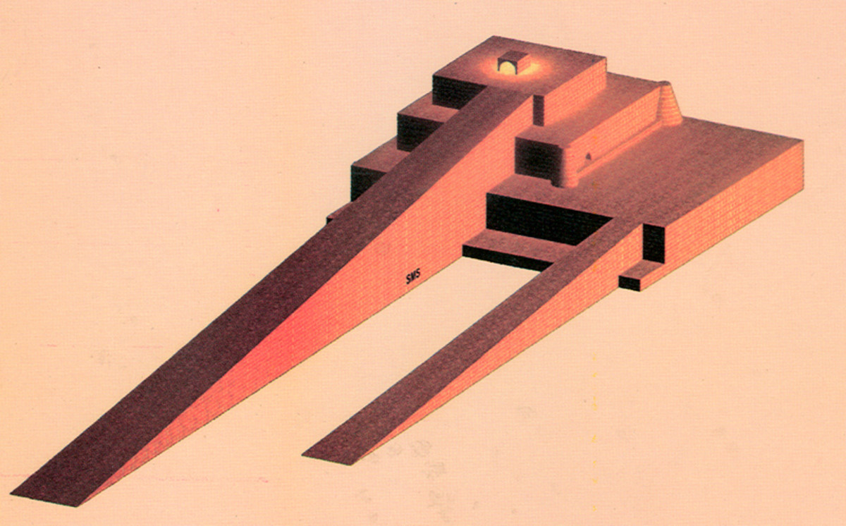 The Sialk Ziggurat, based on the archeological record.