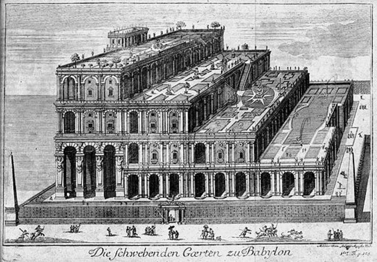 An Interpretation of the Hanging Gardens in 1726 (18th Century).