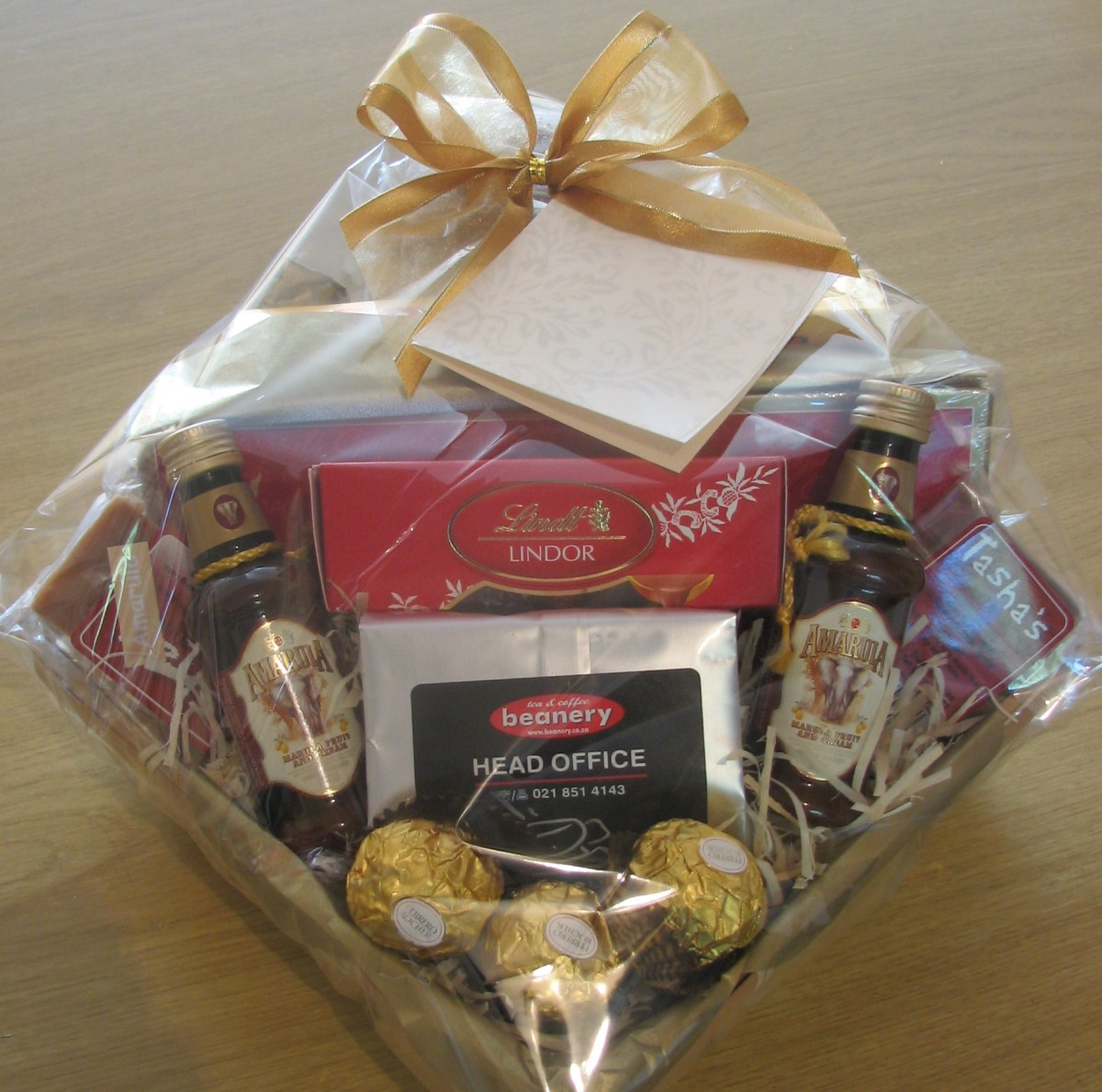 A Coffee and Chocolate themed mini hamper