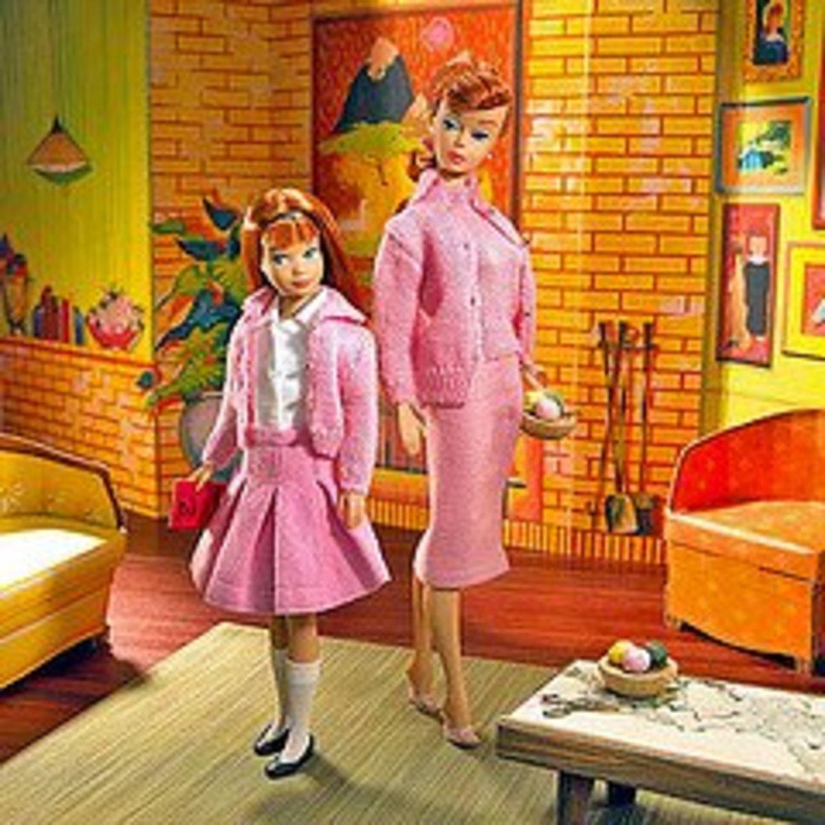 Early Barbie & Skipper dolls