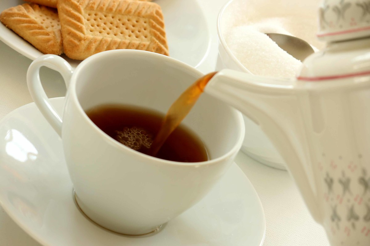 Tea contains a more mild source of caffeine than coffee.