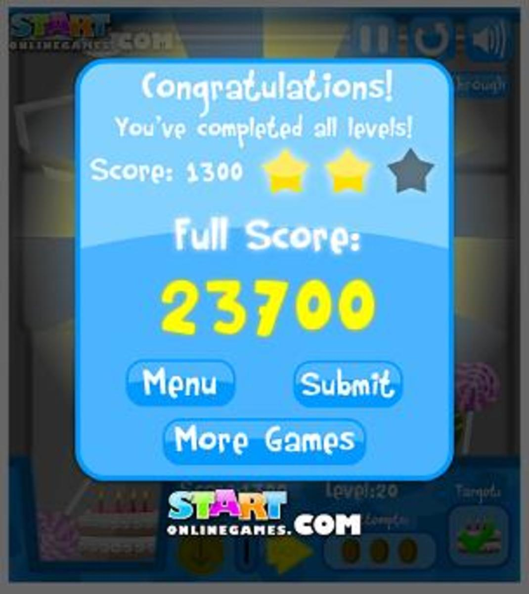 My final score from March 2012
