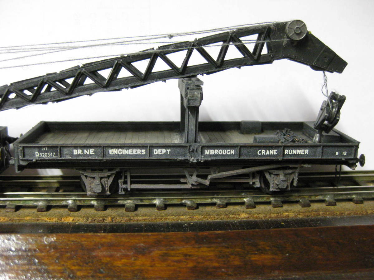 Detail: the crane runner, a former (Parkside) LNER plate wagon 'commandeered' for Departmental use by the North Riding District Engineer - (Middlesbrough Area) You can see the crane jib overhanging