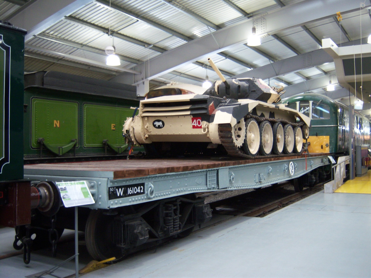 This is the tank flat - in this case taken into the British Railways' Western Region fleet, seen at Locomotion, Shildon
