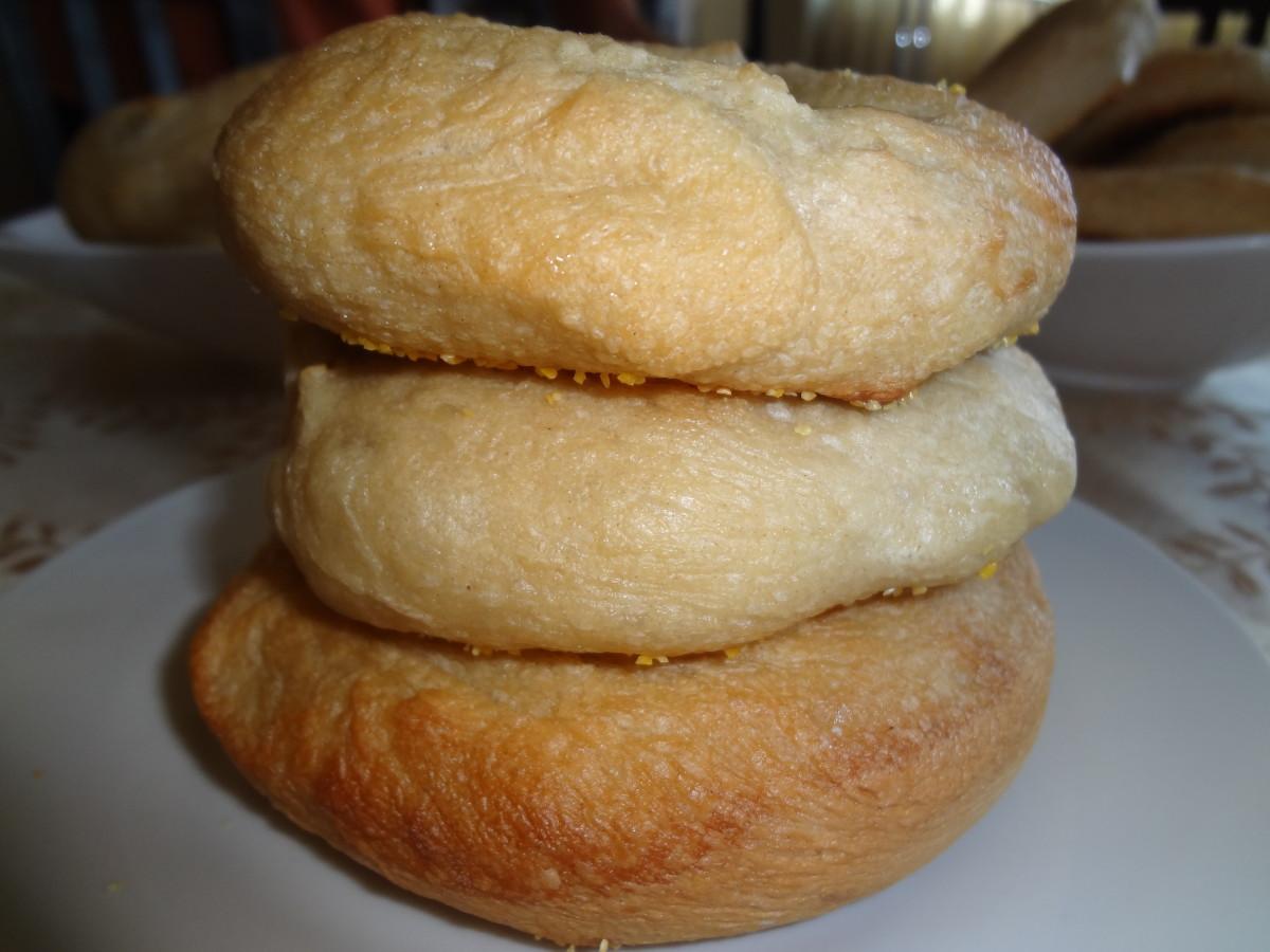 Homemade egg bagels!