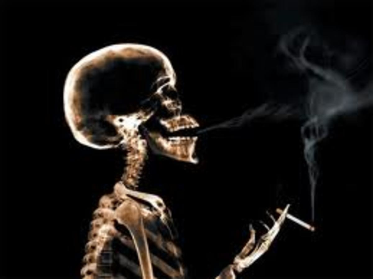 Stop smoking campaign picture to help see what you are doing to yourself.