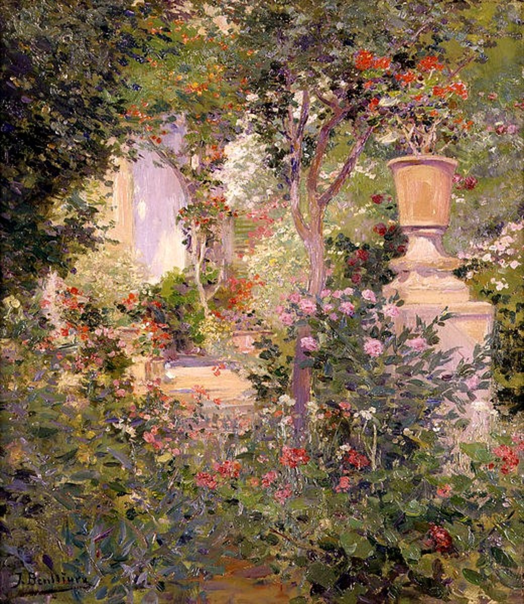 Wikimedia, Garden Painting by Josep Benlliure Gil