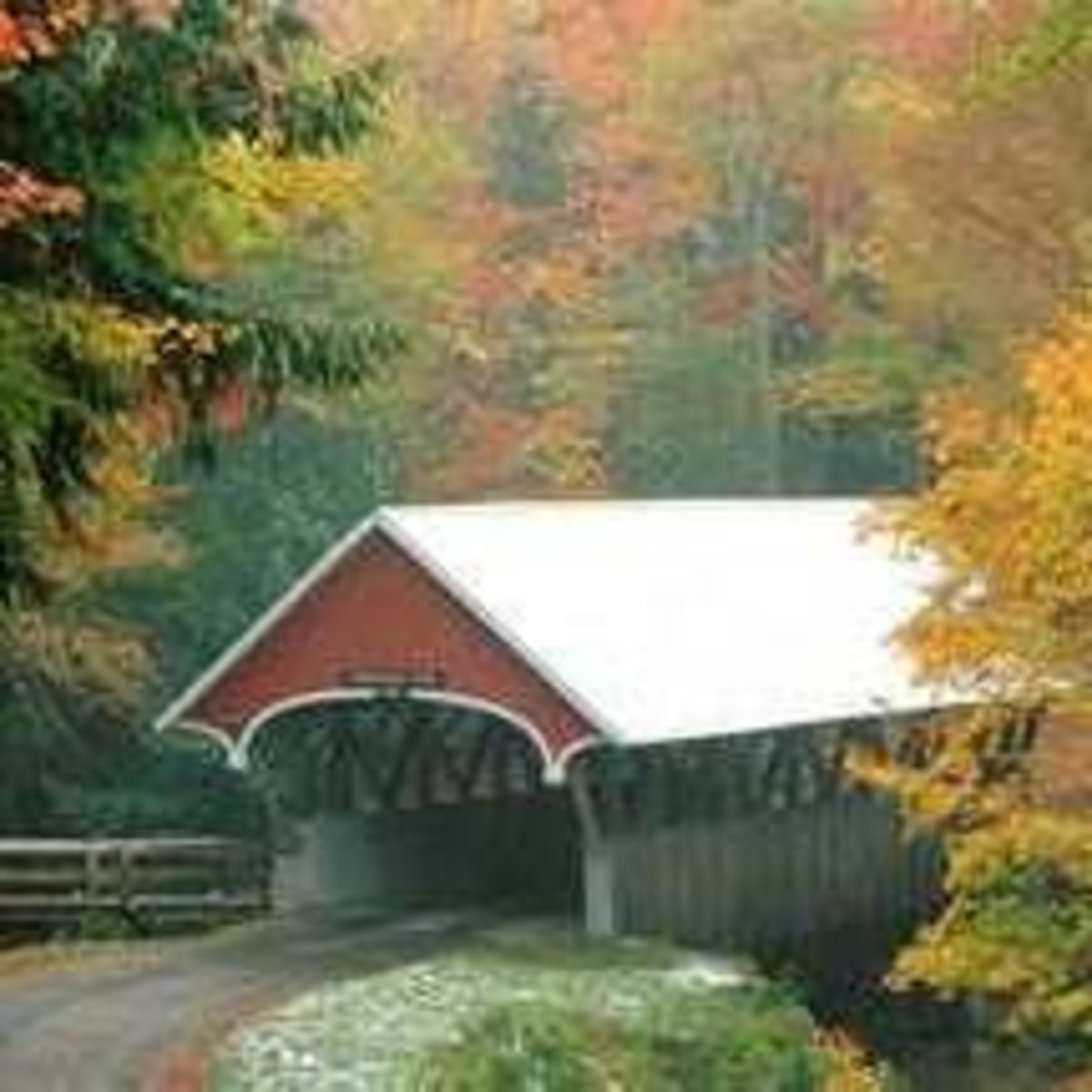 New Hampshire has almost 50 covered bridges that are on the National Register of Historic Places.