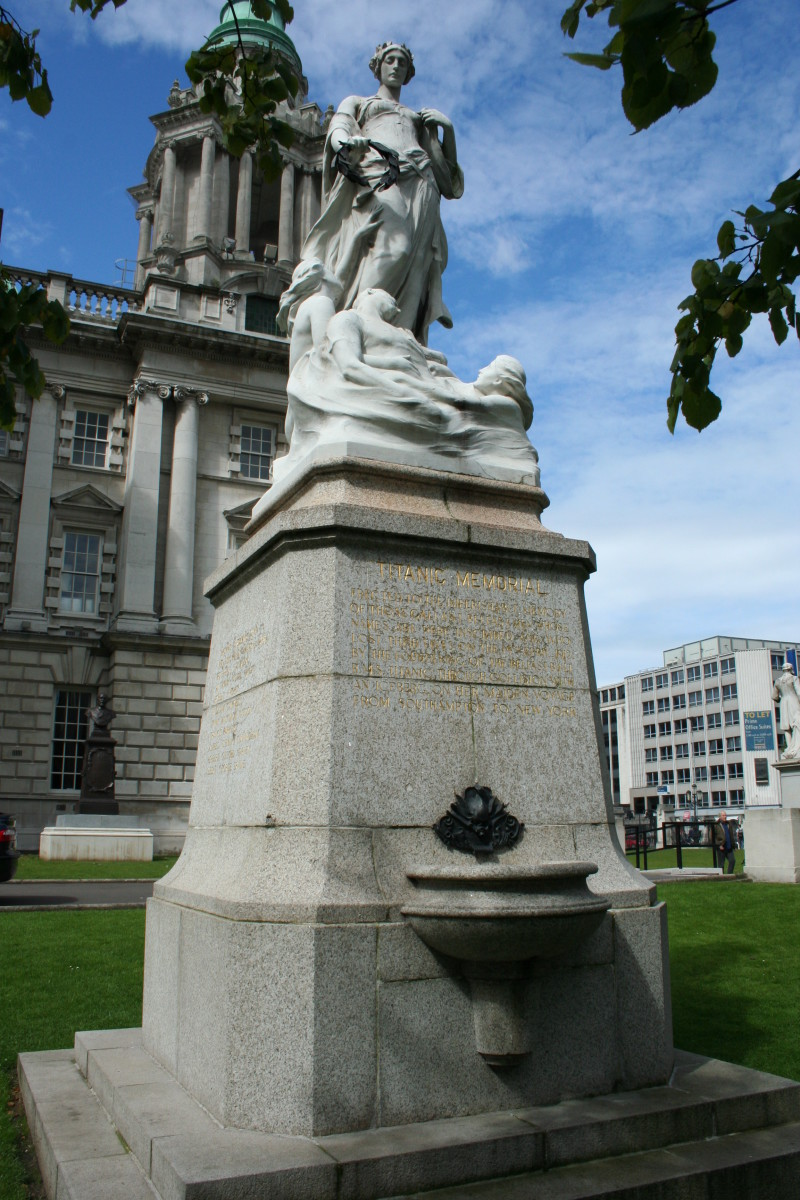 Thane Monument, Belfast. Public domain . See: http://en.wikipedia.org/wiki/File:Titanic_Memorial_Belfast.jpg